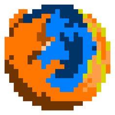 firefox 8bit logo