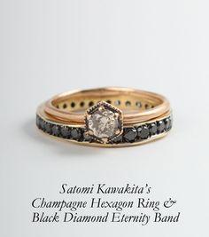 Catbird::Satomi Kawakita::Saturn's Ring, Black Diamond Eternity Band