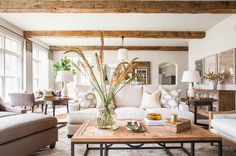 Houston interior designers coastal living rooms, home living room, living r Coastal Living Rooms, Home And Living, Living Room Decor, Living Spaces, Midcentury Modern, Design Apartment, Colonial Style Homes, Modern Colonial, Modern Farmhouse