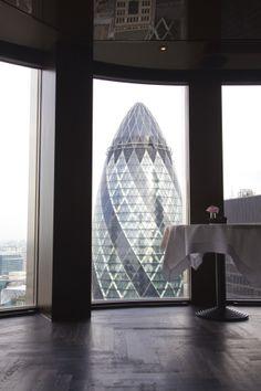 City Social view - London #JasonAtherton #CitySocial #restaurant #Tower42 #Gherkin