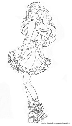 Desenhos para colorir: 20 Desenhos da Barbie para imprimir