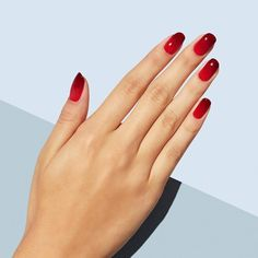 30 Amazing Nail Art Ideas to Inspire Your Next Mani Ombré color isn't only for you. Teen Nail Designs, Best Nail Art Designs, Colorful Nail Designs, Red Summer Nails, Red Nails, Hair And Nails, Nail Polish Tattoo, Nail Polish Art, Manicure Y Pedicure