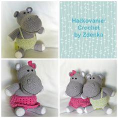 Crochet Hippo, Crochet Hats, Crochet Projects, Dinosaur Stuffed Animal, Detail, Toys, Animals, Knitting Hats, Animais