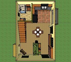 solar off grid small house 005 Mistys 400 Sq. Solar Off Grid Small House Off Grid Tiny House, Tiny House Talk, Small Tiny House, Tiny House Living, Small House Design, Small House Plans, Cottage In The Woods, Tiny House Movement, Tiny Spaces