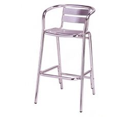 Outdoor bar stools. I would paint these a bright color
