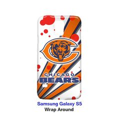 Chicago Bears Node and Strip Samsung Galaxy S5 Case Cover Wrap Around