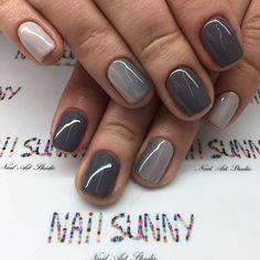Gradient nails ❄️️