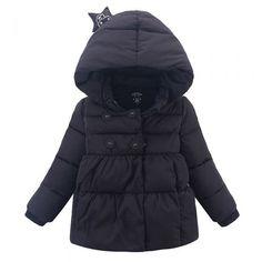 Cute Unisex Toddler Star Hooded Down Sweater/Jacket Warm Winter Outerwear Black