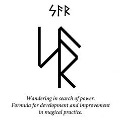ᛋᚨᚱ - Sowilo-Ansuz-Raidho : Wandering in search of power. Formula for development and improvement in magical practice. Viking Symbols And Meanings, Nordic Symbols, Rune Symbols, Alphabet Symbols, Spiritual Symbols, Anglo Saxon Runes, Norse Runes, Viking Runes, Rune Tattoo