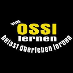 GR 1543_1 Ossi Lernen, Sprüche, FUN Shirt