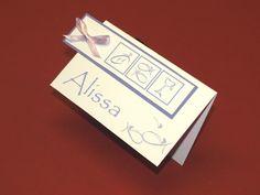 12 Personalisierte Tischkarten zur Kommunion Konfi