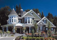 Plan W2384JD: Corner Lot, Country, Luxury, Northwest, Premium Collection, Photo Gallery, Shingle Style House Plans & Home Designs
