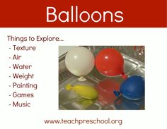 Fun with balloons in preschool