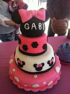 Baby girls first bday cake