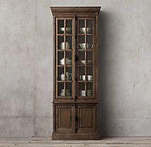 French Casement Double-Door Sideboard & Hutch
