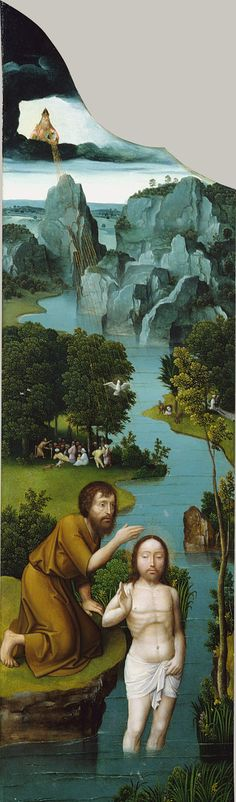Joachim Patinir,  detail of triptych depicting the Penitence of Saint Jerome     c1518