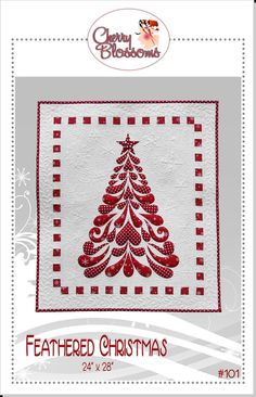 Oh Christmas Tree, made with Accuquilt Go!  Heathers Feathers, Die set, one and two  by Sarah Vedeler.