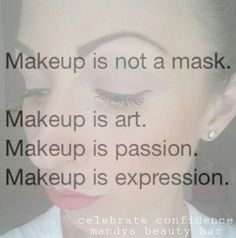 Makeup is expression