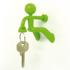 Peleg Design Key Petite, Strong Girl Magnetic Key Holder Key Pete Key Hook Rack Key Magnet Key Organizer for Fridge Home Office, Pink Monkey Business, Magnetic Key Holder, Mason Jars, Design3000, Hook Rack, Key Hooks, Men Design, Cool Gadgets, Kitchen Gadgets