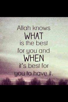 Allah knows♥ Allahım bizler için en iyisini en hayırlısını bilir...