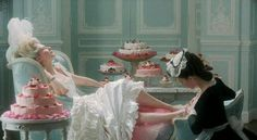 """there MUST be a middle ground between the primary cool of """"le mepris"""" and the candy-colored super-indulgence of """"marie antoinette,"""" and therein lies my aesthetic sensibility."""