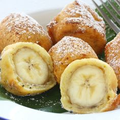 A Very tasty recipe for fried banana bites. These are always a favorite treat.. Fried Banana Bites Recipe from Grandmothers Kitchen.