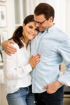 """The Swedish Royal Court has released this ADORABLE picture of Crown Princess Victoria and Prince Daniel just because they are so cute together! 10 years ago the Crown Princess Couple got engaged."