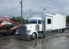 Sweet Race Car Hauler -Outlaw Trucking