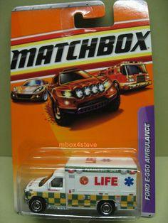 """Matchbox """"Life"""" Ford E-350 Ambulance, extremely rare."""