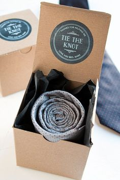 Groomsman Gift - Tie the Knot   www.evermine.com
