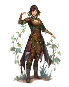 Female Human Progenitor Druid - Pathfinder PFRPG DND D&D 3.5 5E 5th ed d20 fantasy