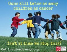 """GUNS KILL TWICE AS MANY CHILDREN AS CANCER: Nationally, guns kill twice as many children and young people than cancer, five times as many than heart disease and 15 times more than infection, according to the New England Journal of Medicine. """"We see guns as much of a threat in their life as we used to see bacteria and viruses,"""" said Dr. Judith S. Palfrey, a past president of the American Academy of Pediatrics and the co-author of the New England journal report."""