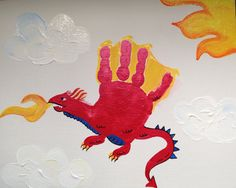 Handprint Dragon   Madelyn 2014
