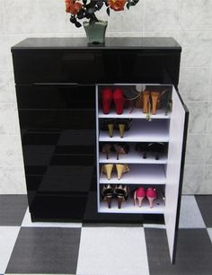 $473.00 Shoe cabinet Decorative Shoes Rack with 5 Folding Single ...