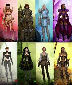 "Guild Wars 2 - ""Costume and character concept art"""