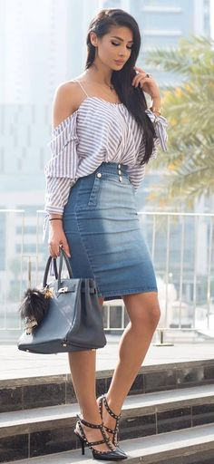 4b5afcc9af8 fashionable outfit top + skirt + bag Casual Fashion Trends