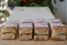 Another tasty looking combo for pressed sandwiches that won't get icky on hikes or squished in a cooler.