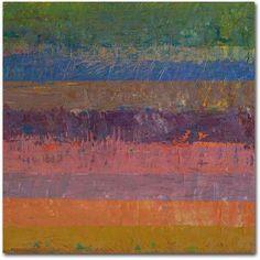 Trademark Fine Art Pink Line Canvas Art by Michelle Calkins, Size: 24 x 24, Orange
