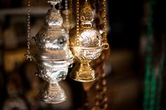 Thuribles for incense in Christian liturgy.