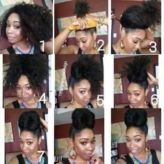 I absolutely love high buns, and hers is beautiful