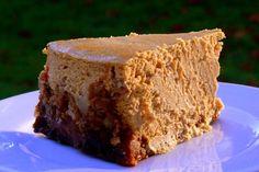 Pumpkin Cheesecake with Gingerbread crust