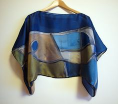Silk+blouse+hand+painted-Silk+scarf-Wedding+by+gilbea+on+Etsy