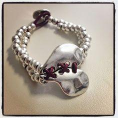 heart bracelet by 5050210 on Etsy Cute Bracelets, Jewelry Bracelets, Bead Jewellery, Jewelery, Turquoise Jewelry, Silver Jewelry, Mom Jewelry, Heart Bracelet, Leather Jewelry