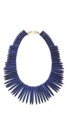 Kenneth jay lane tribal inspired stick necklace