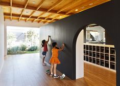 This Japanese kindergarten features a courtyard surrounded by light-filled classrooms.