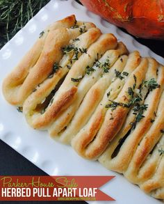 Herbed Pull Apart Loaf - starts with frozen rolls - love this recipe!