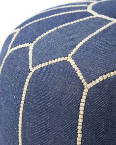 Moroccan Denim PoufMoroccan Denim Pouf