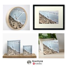 White crane walk the edge of the shoreline Art and Home Decor Accents by #Gravityx9 Designs at Redbubble -