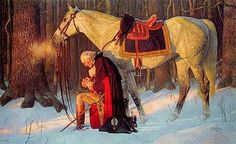 """Best known of Arnold Friberg's paintings, """"Prayer at Valley Forge"""""""