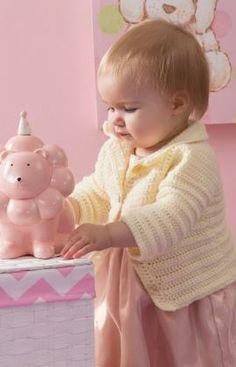 Häkelmuster für Kuschelige Babyjacke
